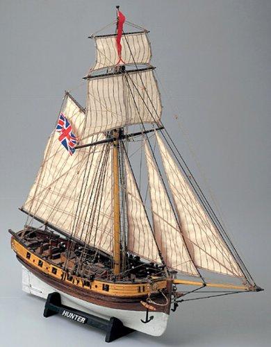 1151 輸入木製帆船模型 マモリ社 MV35 ハンター(英国のカッター)
