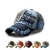 LOLONG カジュアル 帽子 綿 刺繍入りベースボールキャップフ 男女兼用