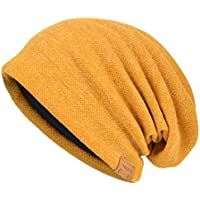VECRY Men's Cool Cotton Beanie Slouch Skull Cap Long Baggy Hip-hop Winter Summer Hat