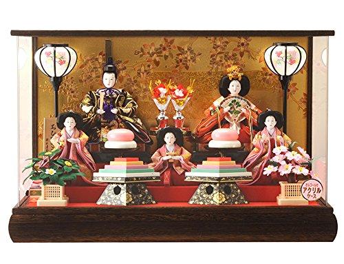 雛人形ケース入り五人ひな人形清玉h263-sg-7-25