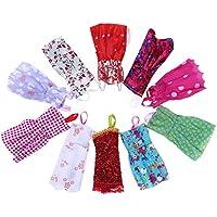 TiaoBug 10個入りレインボーハンドメイドドレスClothes for人形女の子ギフト