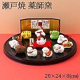 薬師窯 招福干支正月飾り 錦彩招福寿々十二支飾り (93) Pottery ornament of zodiac
