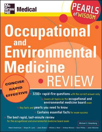 Download Occupational and Environmental Medicine Review: Pearls of Wisdom: Pearls of Wisdom 0071464387