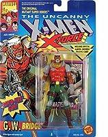 G.W. Bridge Action Figure - X-Men - X-Force Series - w/ Rapid Fire Ratchet Gun - Toy Biz - Marvel - W/ Trading Card -