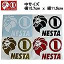 【NESTA BRAND】ネスタブランド New横ステッカー中サイズ/15.7cm×11.5cm/ホワイト ブラック ゴールド レッド RED