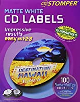 Avery 100-labels 98102 Matte White CDlabels for cd Stomper Pro 【Creative Arts】 [並行輸入品]