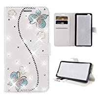 Alcatel 1X Case,Alcatel 1X Case,閉まる Premium PU Leather Wallet Snap Case 閉まる 閉まる Flip Cover for Alcatel 1X Butterflies