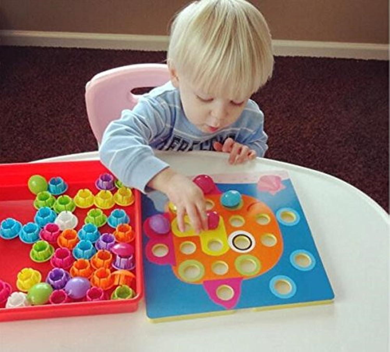パズルToys for Children Composite Pictureクリエイティブモザイク3dパズルMushroomネイルキット教育玩具Art Kids Toyボタンネイル