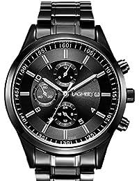 【TAILOR JAPAN】メンズ腕時計 アナログ watch ビジネス ウォッチ 腕時計 シンプル カジュアル 仕事 (ブラック)
