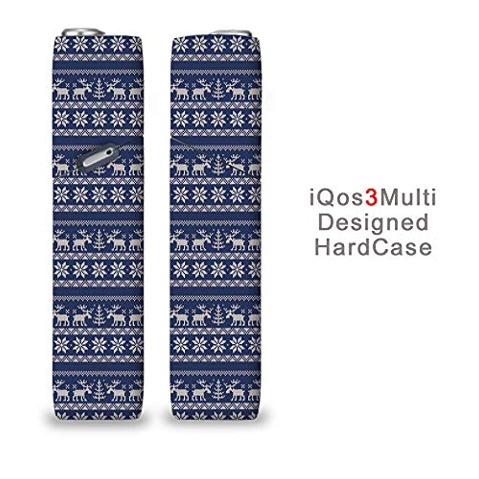完全国内受注生産 iQOS3マルチ用 アイコス3マルチ用 熱転写全面印刷 ノルディック 加熱式タバコ 電子タバコ 禁煙サポート アクセサリー プラスティックケース ハードケース 日本製