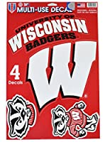 Official National Collegiate Athletic Association Fan Shop Licensed NCAA Shop Multi-use Decals (Wisconsin Badgers) [並行輸入品]