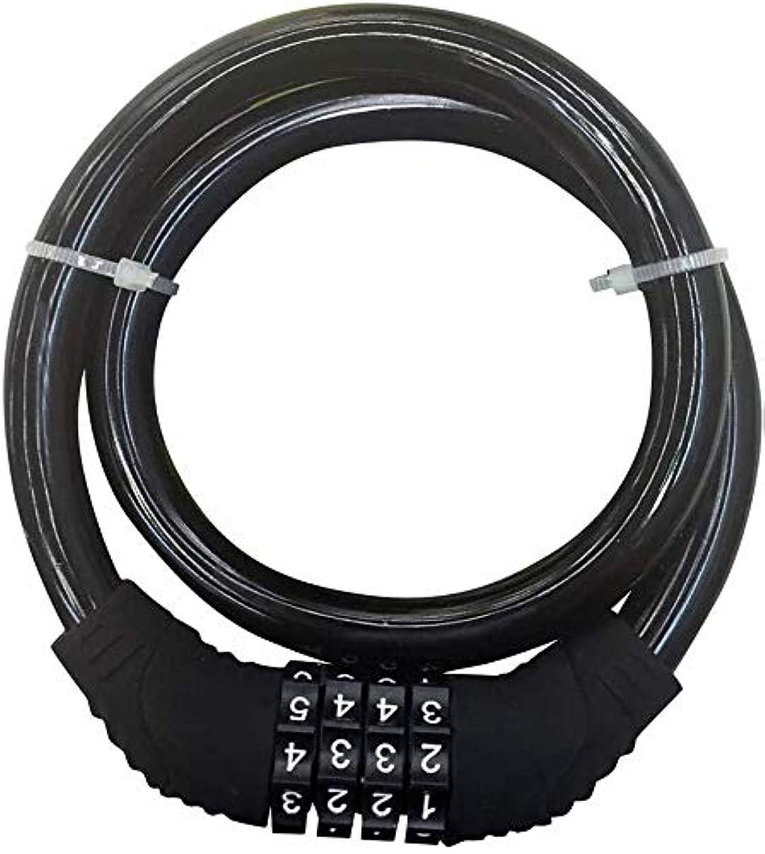 登場うめき声サラダ自転車ロック、自転車ケーブルロック、4桁のリセット可能なコンビネーションケーブルロック自転車、スクーター、グリルなど、安全を確保する必要があるアイテムに最適