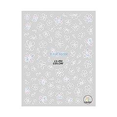 シフォンフラワーネイルシール【CA-053】花柄ネイル フルール 春ネイル チーク 手描き風
