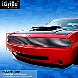 ステンレススチールegrilleビレットグリルグリル用2009–2014Dodge Challenger Phantom挿入
