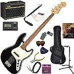 FENDER エレキベース 初心者 入門 メキシコ製 クラシックでエレガントなスタイルのジャズベース 人気のVOX Pathfinder BASS10が入った本格14点セット Player Jazz Bass/BLK/PF(ブラック/パーフェロー指板)