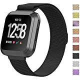 TERSELY Milanese Band for Fitbit Versa / Versa Lite, Luxury Metal Stainless Steel Magnetic Milanese Adjustable Replacement Bands Fitness Sport Strap for Fitbit Versa Wristbands