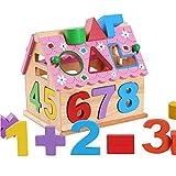 TLMYDD 知恵家木製幾何学番号認識子供の教育おもちゃ 子供のおもちゃ