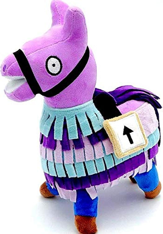 Fortnite Loot Supply Llama ぬいぐるみ 人形 フィギュア ビデオゲーム ソフトトロールスタッシュ 動物アルパカギフト S S