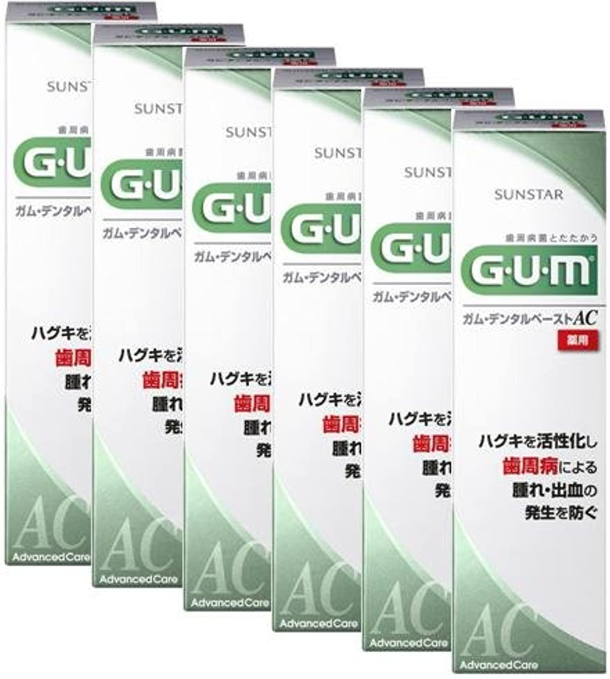 GUM(ガム) デンタルペーストAC 90g 【医薬部外品】【6点セット】