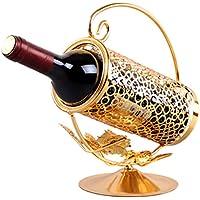 Anberotta アンティーク ワインホルダー ワインラック シャンパン ボトル スタンド インテリア ディスプレイ 選べるカラー W45 (ゴールド)