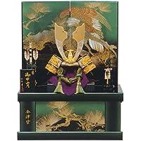 五月人形 兜収納飾り 収納兜飾り 緑彩 GOH-502226 平安豊久 GC-136
