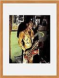 Fela Kuti - Backstage At his Shrine Venue 1978 Framed Mini Poster - 34x28.5cm