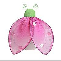 """ナイロンHangingてんとう虫デコレーションGlitter–メッシュLady Bug装飾の女の子のベッドルーム、赤ちゃん保育園、ホーム、Playroom、結婚式、壁&天井by bugs-n-blooms Medium 8""""W x 6""""H 7GLDY-CS"""
