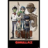 Music - Alternative Rock Posters: Gorillaz - All Here - 35.7'x23.8'