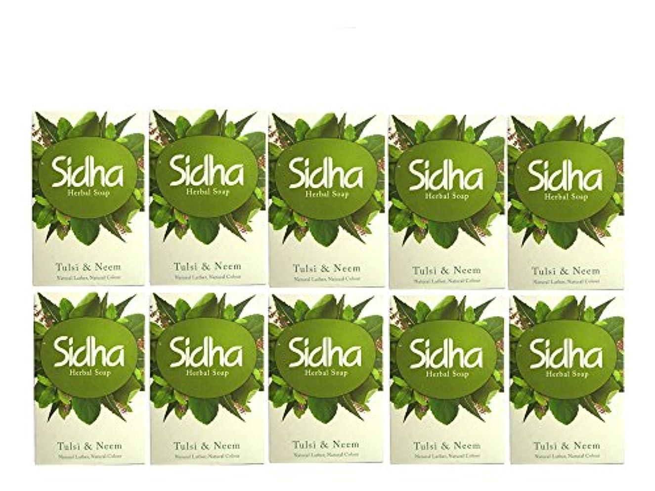 すべき状態仮定するSIHDH Herbal Soap Tulsi & Neem シダー ハ-バル ソープ 75g 10個セット