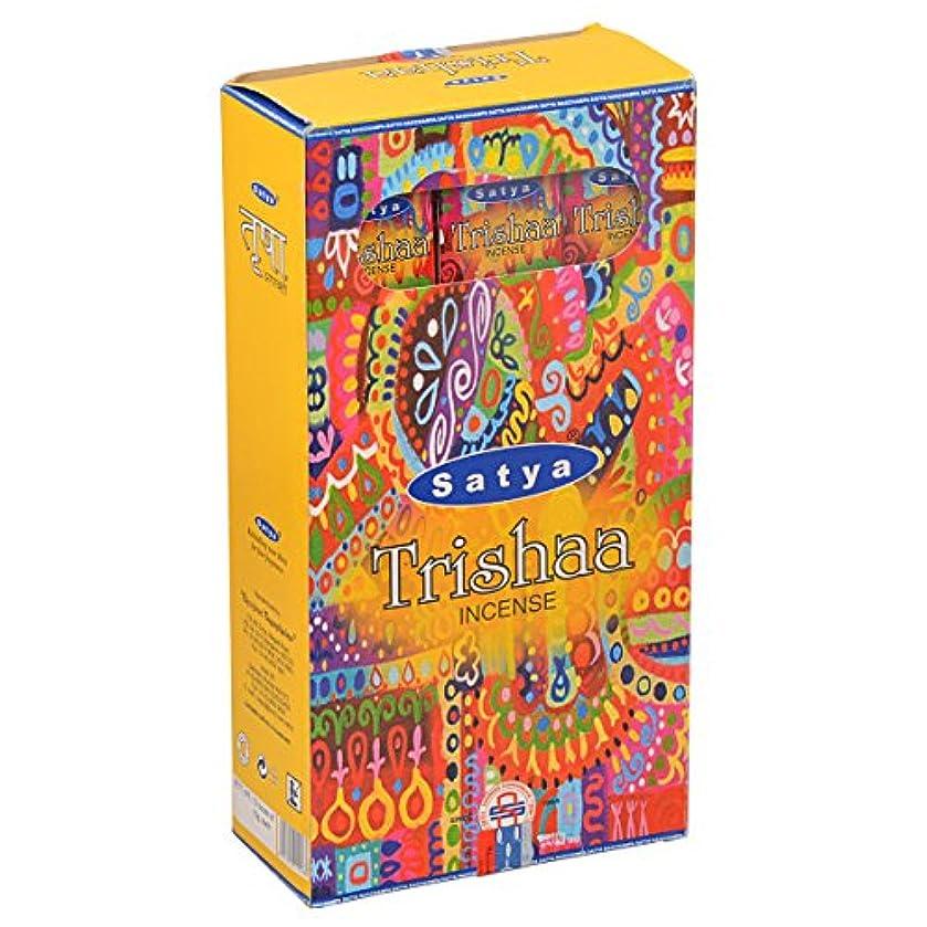 形成独立した伝統的SATYA(サティヤ) トリシャー Trishaa スティックタイプ お香 12箱 セット [並行輸入品]