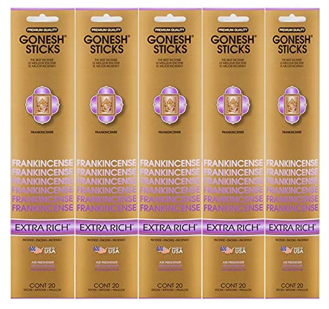 キャンドルバトル食堂Gonesh Incense Sticks Extra Richコレクション – Frankincense 5パック(合計100 )