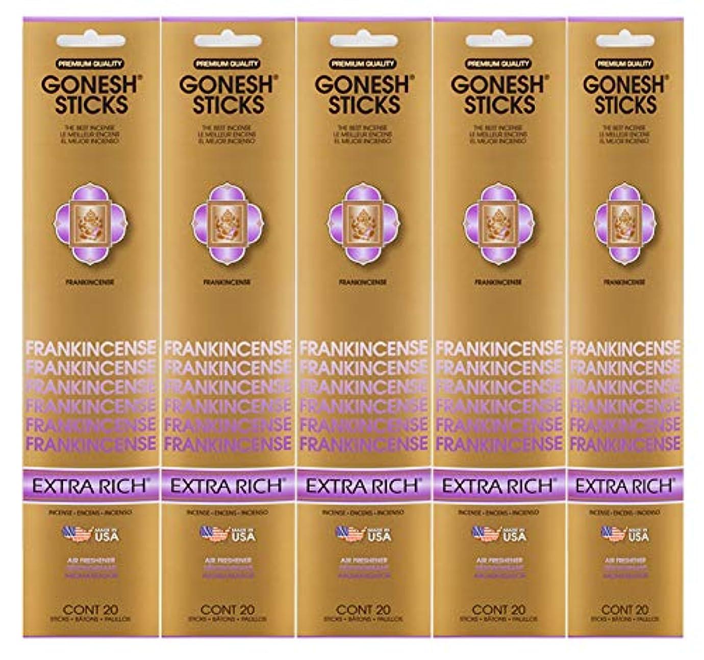 送ったかもしれないパンダGonesh Incense Sticks Extra Richコレクション – Frankincense 5パック(合計100 )