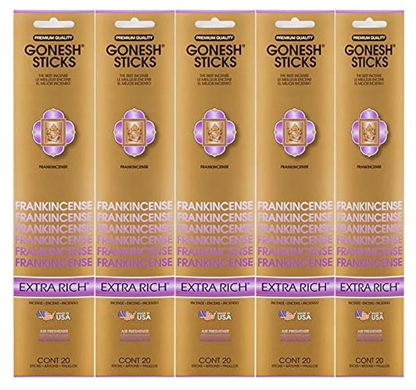 Gonesh Incense Sticks Extra Richコレクション – Frankincense 5パック(合計100 )