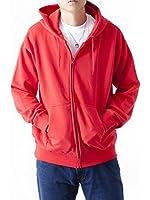 (ティーシャツドットエスティー) Tshirt.st 無地でシンプルな レギュラー ジップ パーカー (裏パイル) ( S , M , L , XL , 2XL , 3XL , 4XL , 5XL )