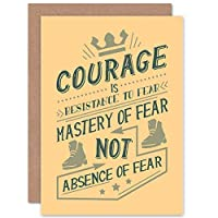 CARD GREETING QUOTE MOTIVATION COURAGE MASTERY FEAR 見積もり動機マスター