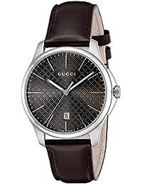 [グッチ]GUCCI 腕時計 Gタイムレス ブラウン文字盤 YA126318 メンズ 【並行輸入品】