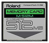 512mb Roland M-512m Compactflash Cf Memory Card Upgrade For Spd-s, Sp-404