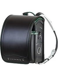 ふわりぃ 耐傷 ランドセル パイピンコンビ メガポケットモデル A4フラットファイル対応 (ブラック×グリーン)