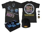 Tin Gift Set (T-Shirt) (Black) (Size L) KISS