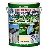 カンペハピオ 水性シリコン外かべ用 つや消しアイボリー 3L