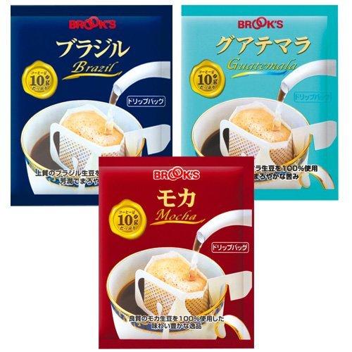 【Amazon.co.jp限定】ブルックス ドリップバッグ コーヒー ストレート 3種セット 計90袋