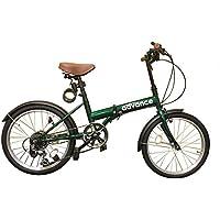 advance 折りたたみ自転車 20インチ 変速 ワイヤー錠 ・ LEDハンドルライト の プレゼント付●ad-A