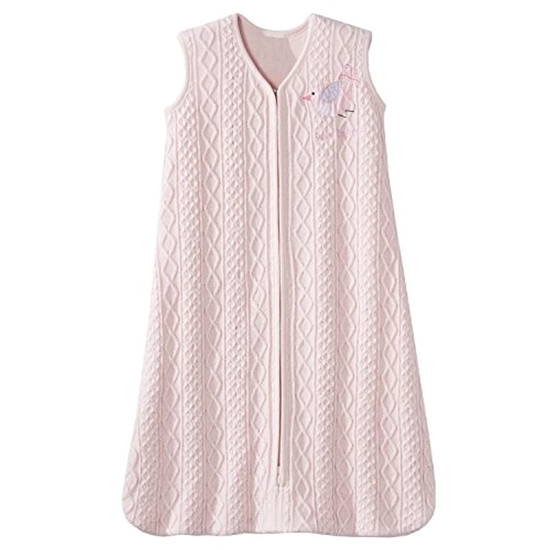 Halo Sleepsack Cable Knit Sweater Wearable Blanket, Pink Bird, Small [並行輸入品]