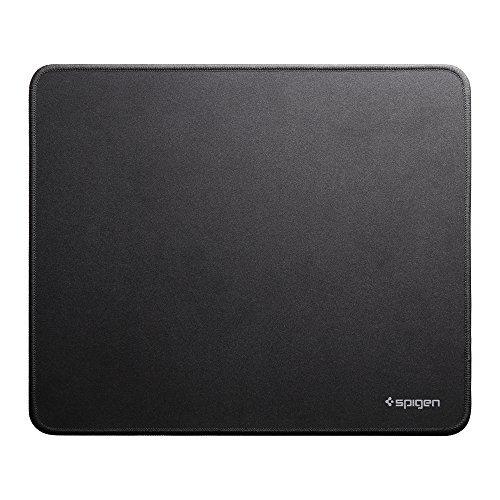 【Spigen】 マウスパッド, A100 [ 裏面 滑り予防 ] ゲーミング (A100, ブラック)