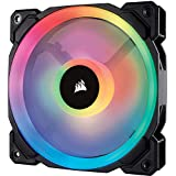 Corsair LL120 RGB, 120mm Dual Light Loop, RGB LED PWM Fan, Single Pack - Black