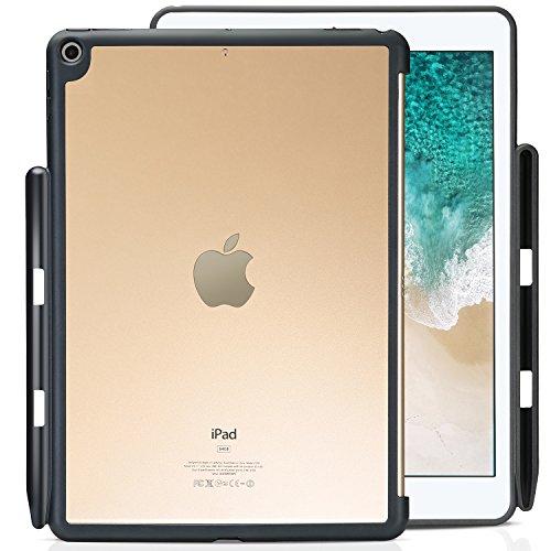 ProCase iPad 9.7 ケース 保護ケース バックカバー Appleペンシルホルダー付き iPad 9.7 インチ 2018 iPad 第六世代/2017 iPad 第五世代 専用 Appleスマートキーボードとカバーに対応 -クリア