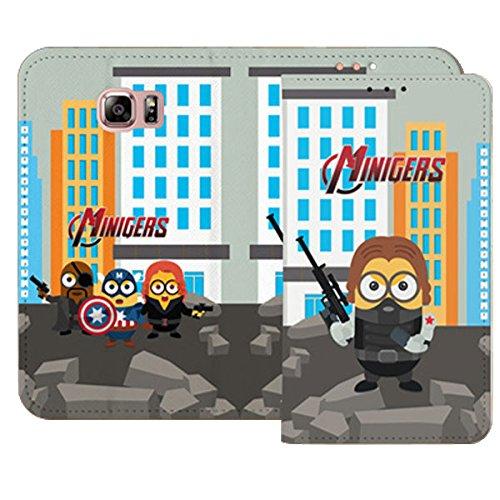 Galaxy S4 / ギャラクシー S4 (SC-04E) 対応 ケース Ecoskin Wallet Minigers Mission2 Flip エコスキン ウォレット ミニジャーズ ミッション1 フリップ ケース スマホ カバー Mini Soldier / ミニ ソルジャー