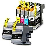 LC211-4PK +BK2 【 お徳用 4色パック +黒2個 】 brother 互換 インクカートリッジ ブラザー LC211 | DCP-J963N | DCP-J962N | DCP-J762N | DCP-J562N | MFC-J880N | MFC-J990DN | MFC-J900DN | MFC-J830DN | MFC-J730DN | MFC-J990DWN | MFC-J900DWN | MFC-J830DWN | MFC-J730DWN | インク ( LC211BK 黒 顔料 ブラック / LC211C シアン / LC211M マゼンタ / LC211Y イエロー )