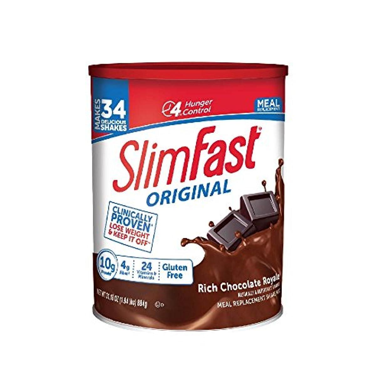 進捗自動的に世界記録のギネスブック海外直送品 SlimFast スリムファースト321 Plan ロイヤルチョコレートシェーク884g