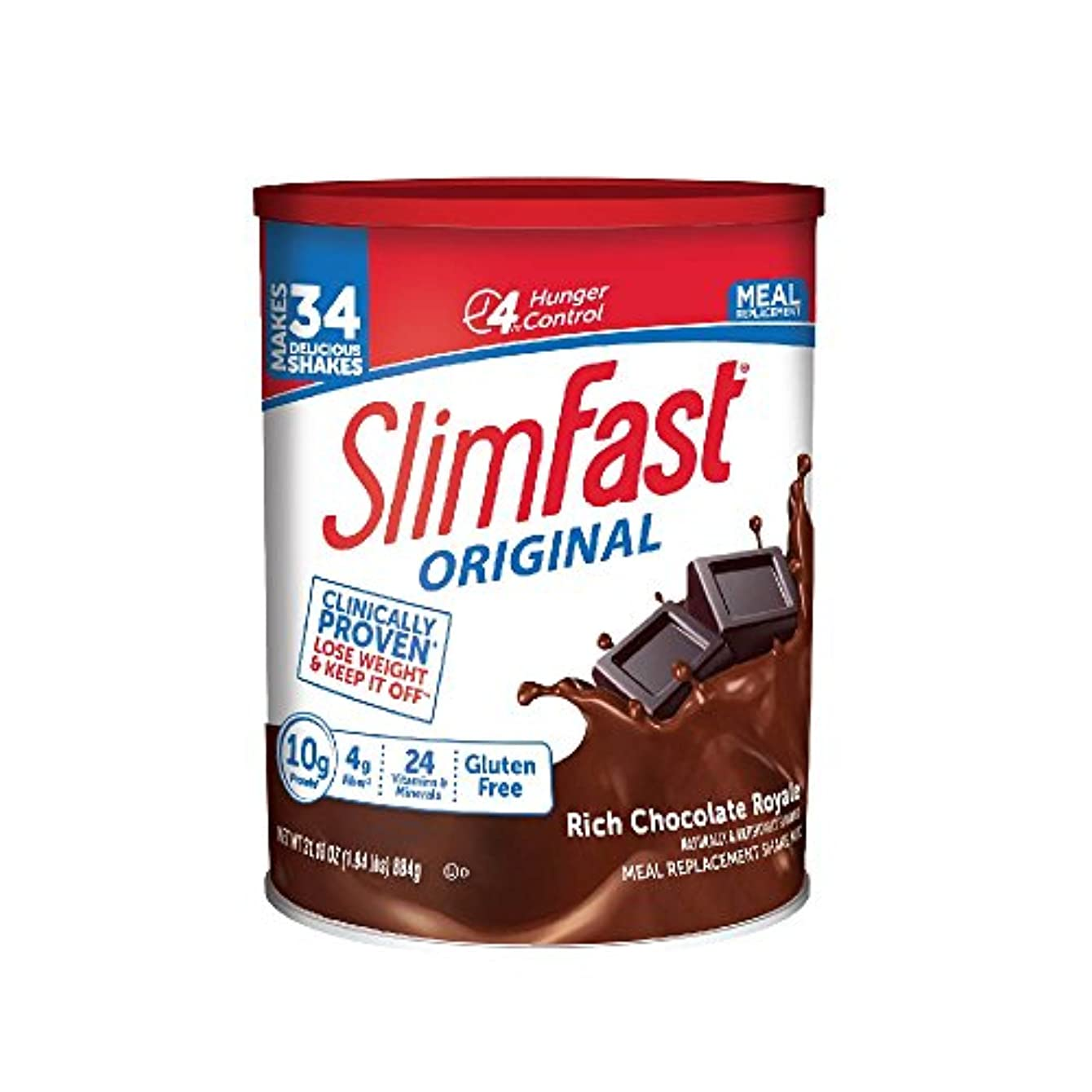 好きである通信するエッセンス海外直送品 SlimFast スリムファースト321 Plan ロイヤルチョコレートシェーク884g